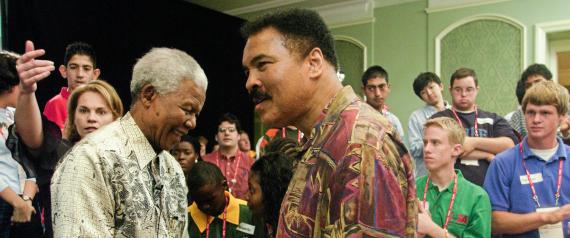 NELSON MANDELA AND MUHAMMAD ALI