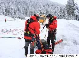 B.C. Skiers Rescued After Being Caught In Avalanche Overnight