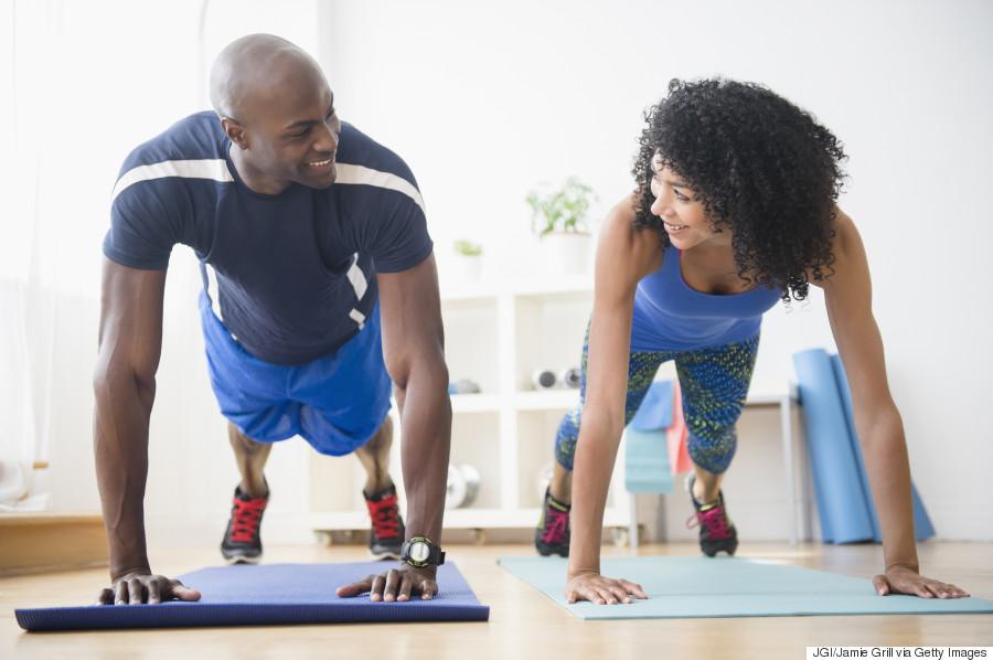 man woman workout