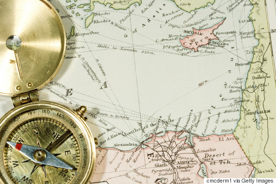 cyprus map compass