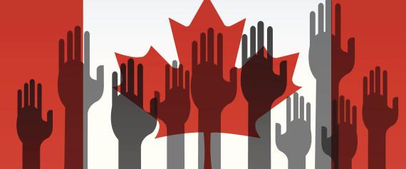 CANADA RAISED HANDS