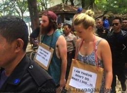Des touristes humiliés publiquement pour avoir volé