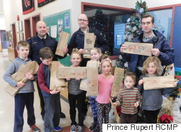 B.C. Kids Use Liquor Store Bags To Write Safety Messages For Drivers
