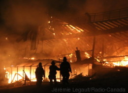 Le Mont Tourbillon de Lac-Beauport ravagé par un incendie