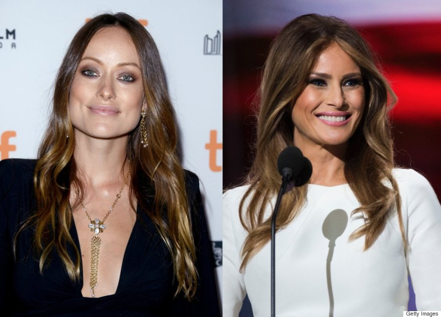 olivia wilde melania trump hair