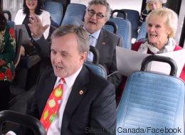 Les sénateurs canadiens sur le «party»