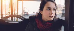 GIRL IN BUS