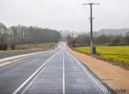 La Francia inaugura la prima strada ad energia solare al mondo