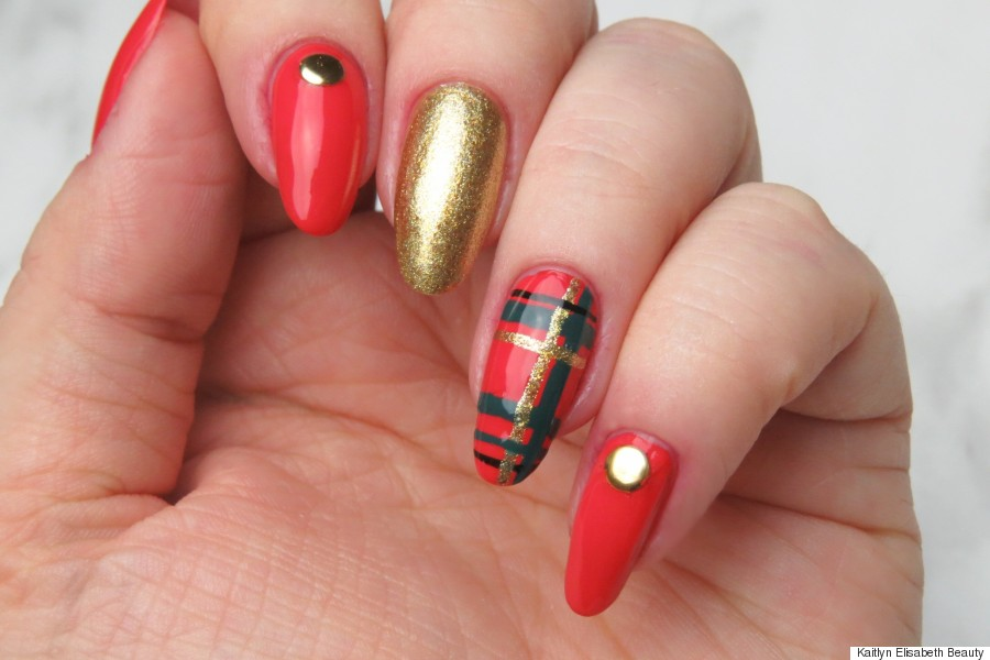 Wonderful Nail Polish To Wear With Red Dress Tiny Shades Of Purple Nail Polish Regular Cutest Nail Art How To Start My Own Nail Polish Line Old Foot Nails Fungus PinkWhere To Buy Opi Gelcolor Nail Polish Nail Art: Festive Plaid Nails To Rock Over The Holidays