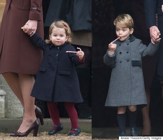 Catherine and William take George and Charlotte to church on Christmas Day