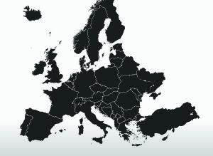 Map Europe Black