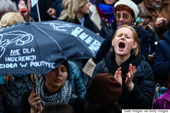 women protest poland