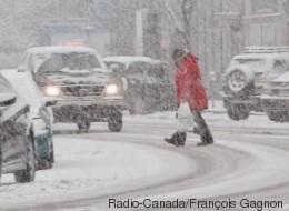 Une bonne bordée perturbe les déplacements au Québec
