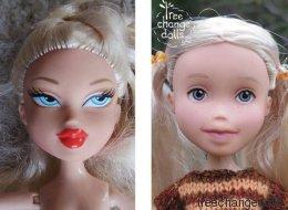 Cette mère démaquille les poupées