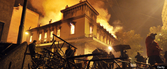 ATHENS BURNS Greek Protests Continue As Lawmakers Pass Severe Austerity Measures