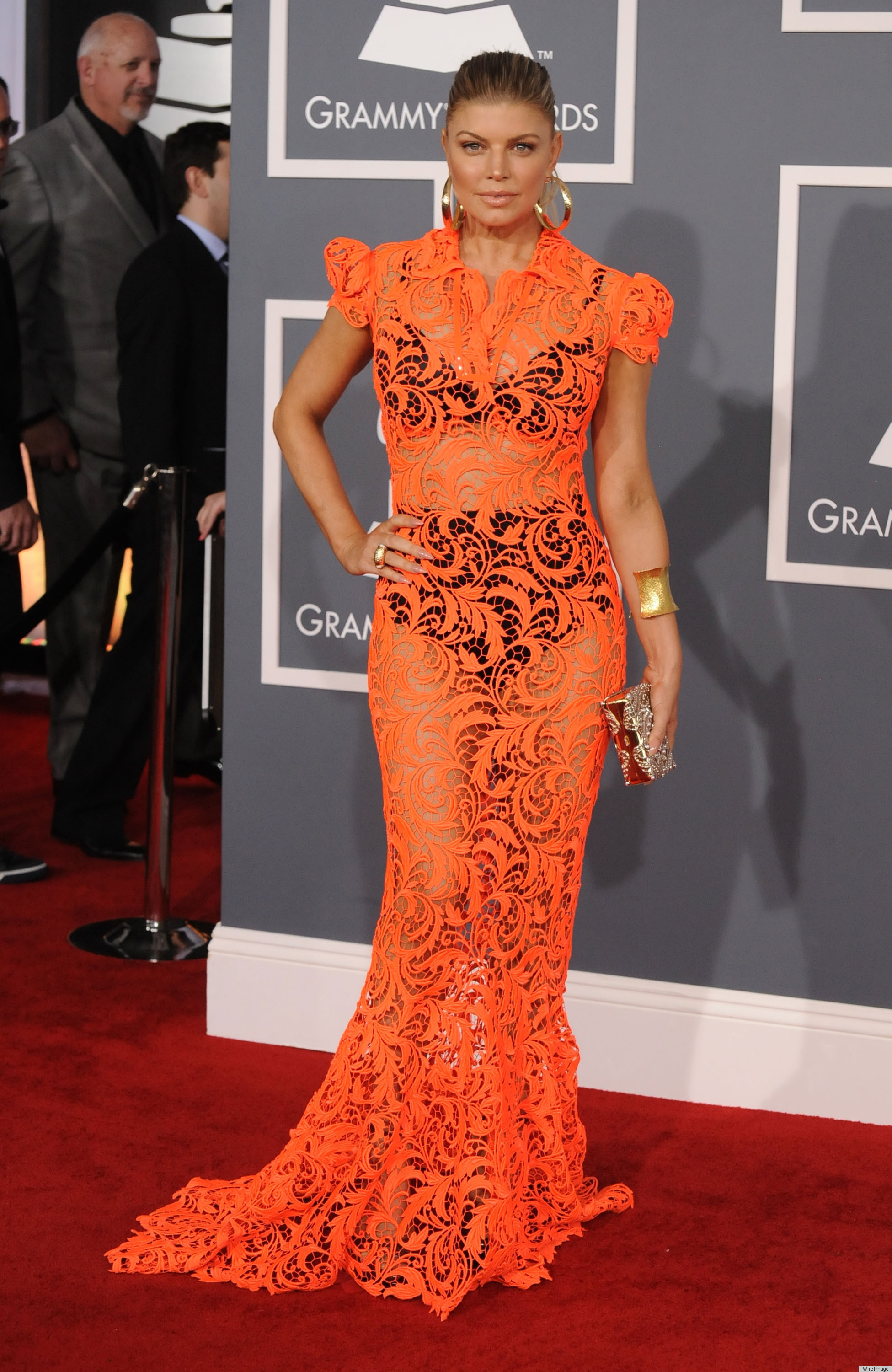 fergie grammys 2012 red carpet dress fab or fug photos