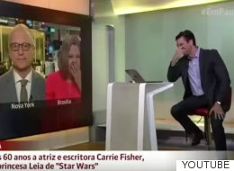 Un periodista ruge como Chewbacca en directo al recordar a Carrie Fisher