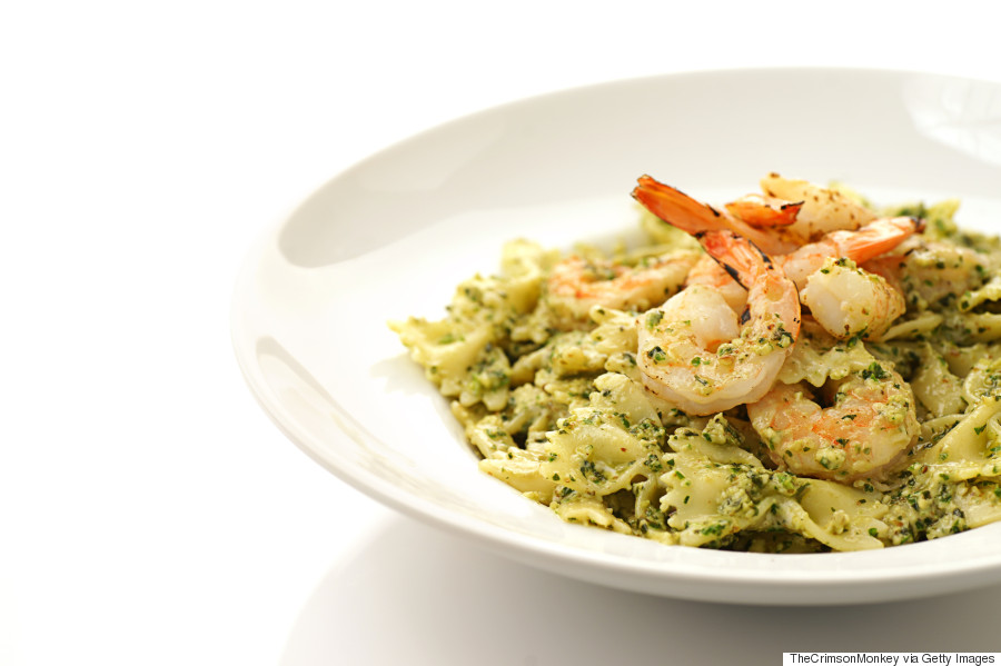 lemon shrimp farfalle