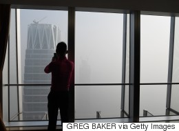 중국이 새해 선물로 엄청난 스모그를 받았다