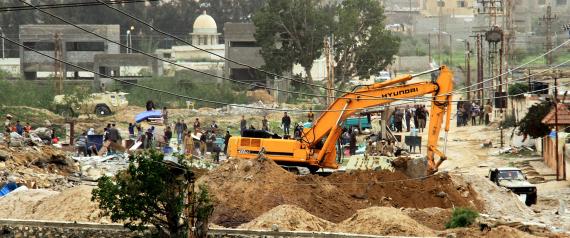 EGYPT DESTROY GAZA TUNNELS