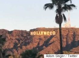 Les célèbres lettres de Hollywood ont bien changé pendant le réveillon