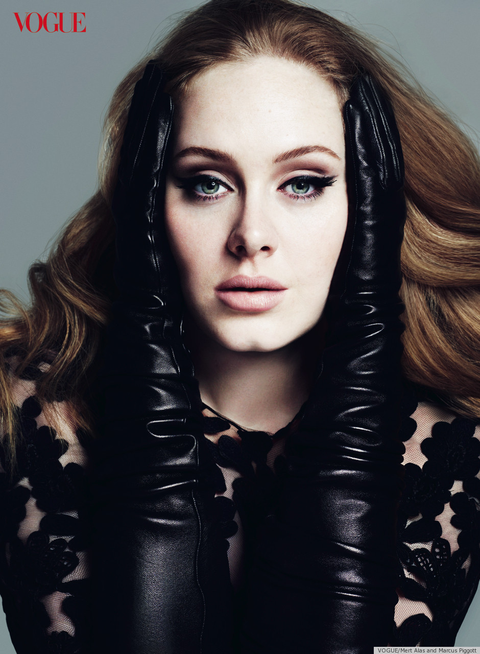 Adele covers vogue march 2012 see the pics photos