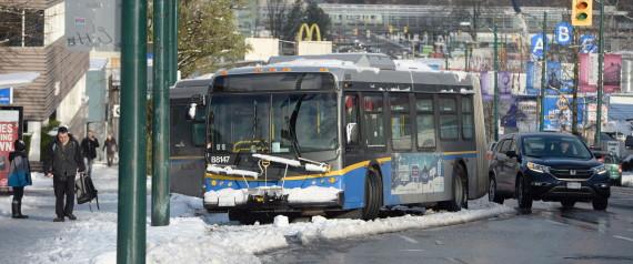 VANCOUVER SNOW ICE WINTER BUS