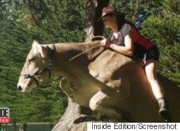 Teen Has Been Riding Her Beloved Cow For Years