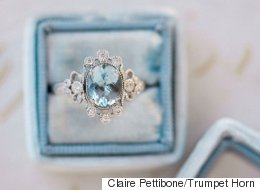 15 bagues de fiançailles avec une touche de bleu