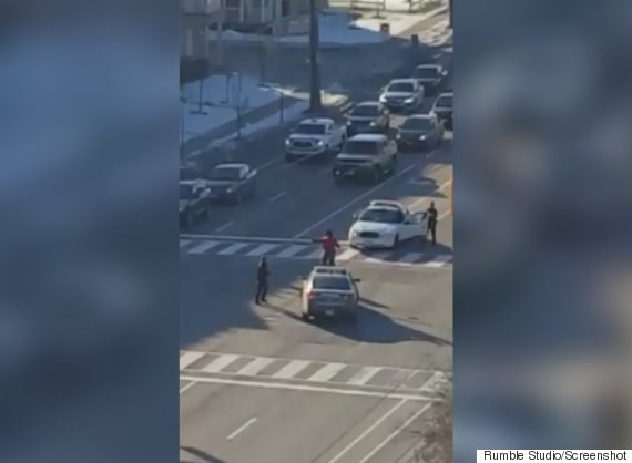 woman stomps cars
