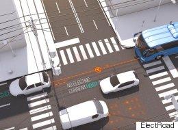 Une route qui recharge les voitures électriques