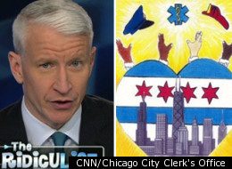 Anderson Cooper Chicago City Sticker
