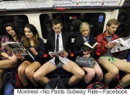 Des usagers du métro se dévoilent à l'occasion de la journée sans pantalon