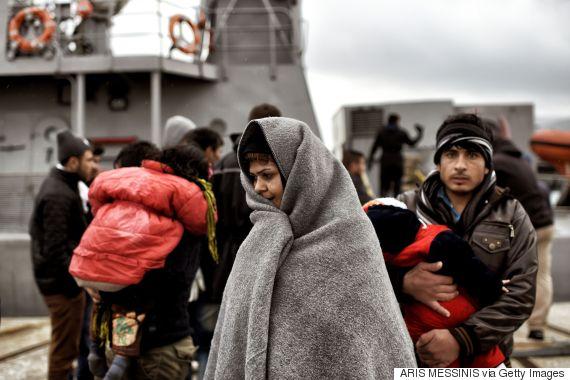 lesvos migrants rescued