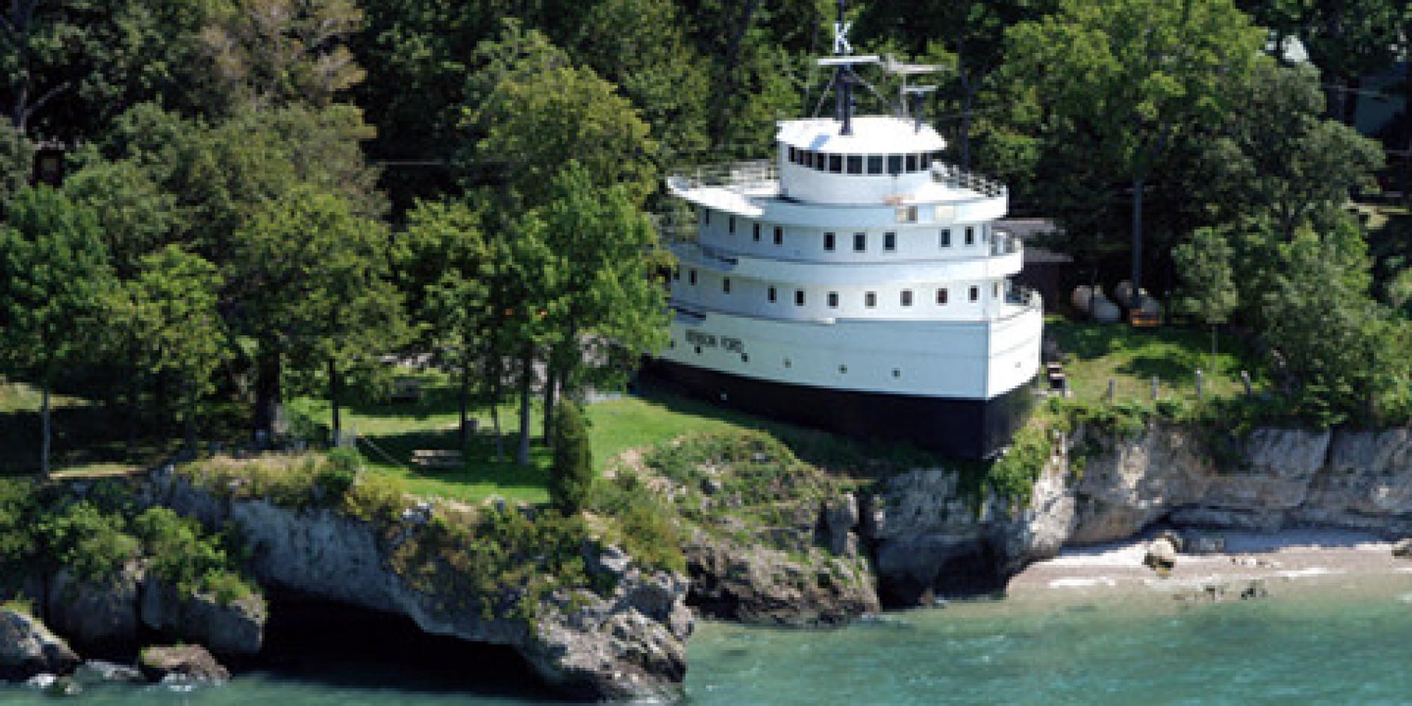 Benson Ford House Eine Familie Hat Sich Aus Diesem Alten Schiff Ein Haus Gebaut So