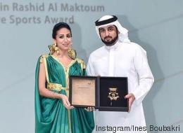 Ines Boubakri reçoit, à Dubai, le Prix Cheikh Mohamad Bin Rashid Al Maktoum de créativité sportive
