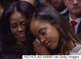 Beautiful Reason Malia Was Moved To Tears During Dad's Farewell