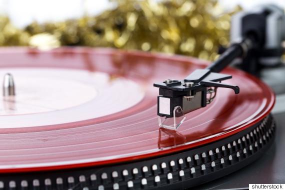 christmas record player