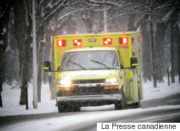 Estrie: deux personnes, dont un bébé, sont grièvement blessées après un accident