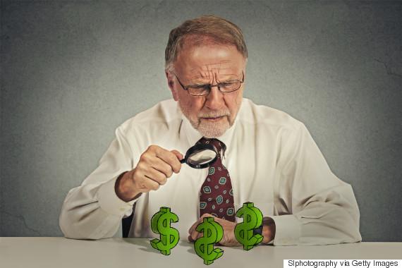 greedy aging man