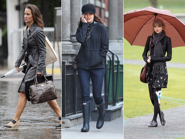 Pippa Middleton Taylor Swift And More Celebrities In Rain
