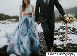26 magnifiques robes de mariée bleues