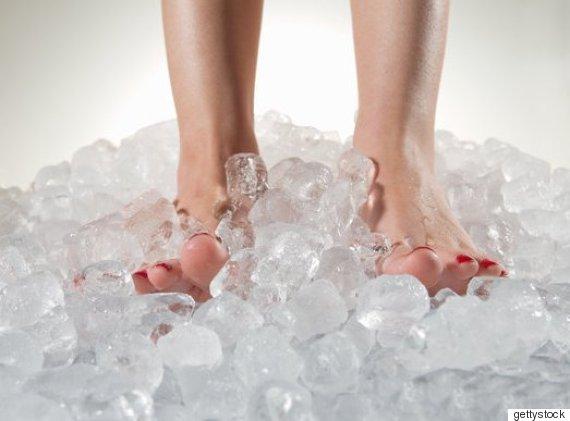 pieds glaçons