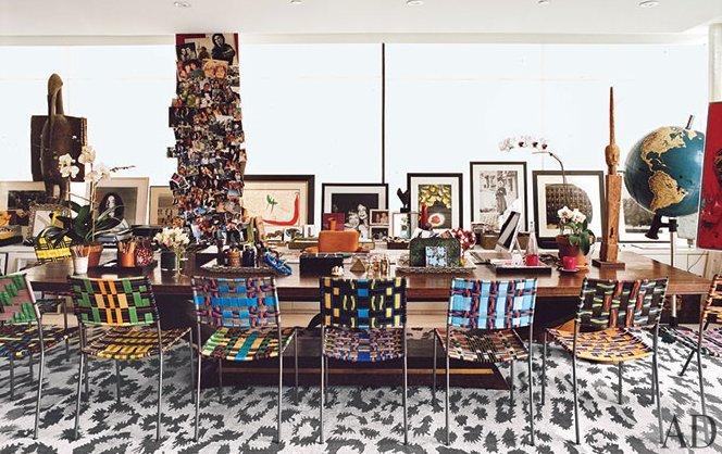 Diane von furstenberg 39 s new york city penthouse in architectural digest huffpost - Introir dijane ...