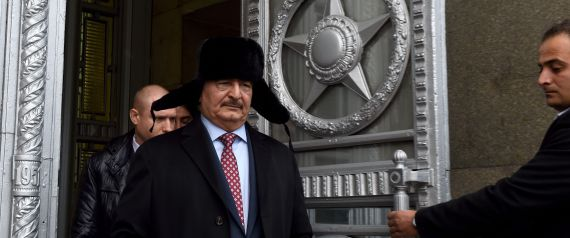 KHALIFA HAFTAR IN RUSSIA