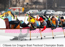 Obviously Canada Is Hosting North America's 1st Ice Dragon Boat Race