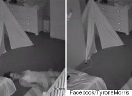 잠든 아기의 방을 조용히 나오려는 엄마의 이 황당한 모습은 부모라면 이해한다(영상)
