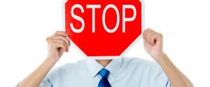 Man Sign Stop