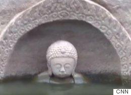 중국 어느 저수지에서 600년 된 불상이 발견됐다