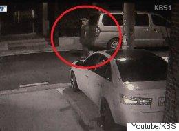 CCTV에 포착된 '여성 돌로 내리찍은 남자'(15초)